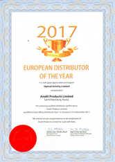 Сертификат лучшего дистрибьютора Optical Activity в 2017 году